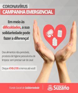 Suzano lança campanha emergencial para enfrentamento ao coronavírus
