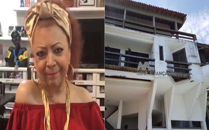 Mansão de Beth Carvalho no Rio de Janeiro está abandonada