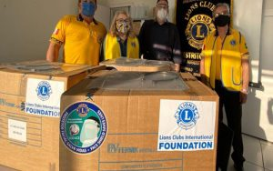 Suzano recebe 500 novas máscaras Face Shield do Lions Club