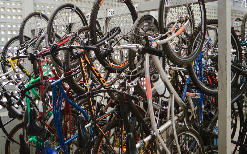 Bicicletários da região têm 856 vagas disponíveis