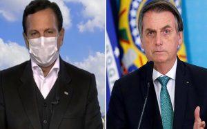 Doria diz que Bolsonaro terá que usar máscara se vier para SP: 'aqui é lei'