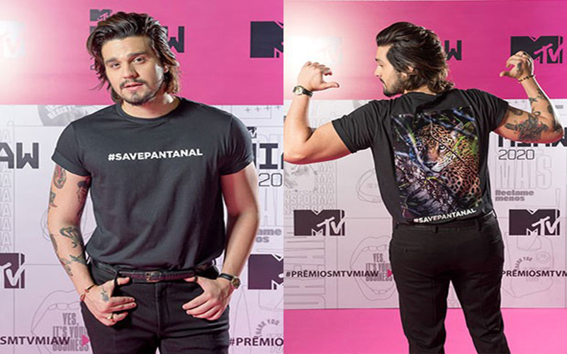 Luan Santana protesta pelo Pantanal na MTV
