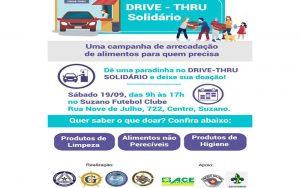 Clube Suzaninho realizará drive-thru solidário neste sábado (19)