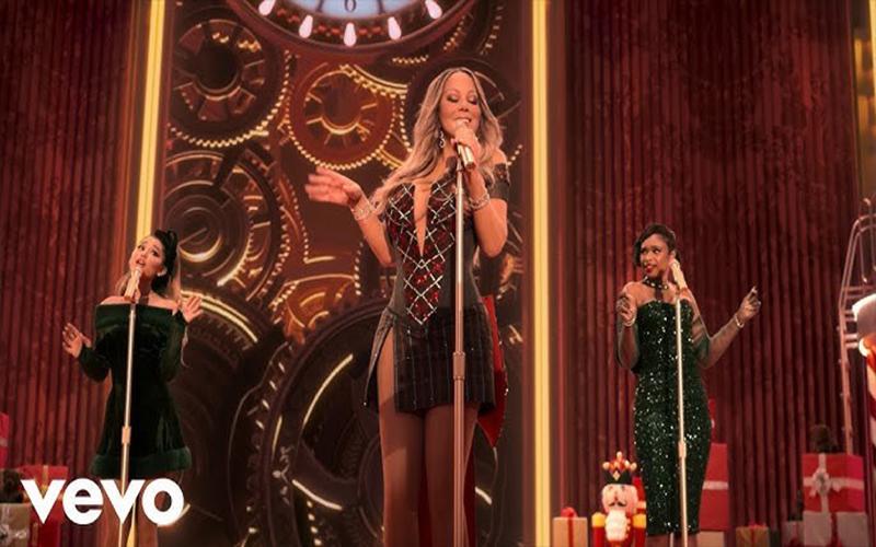 Mariah Carey lança clipe natalino com Jennifer Hudson e Ariana Grande