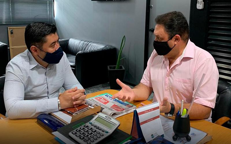 Damasio reforça parceria com a cidade de Suzano