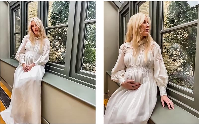 Gravidíssima, Ellie Goulding exibe barriguinha do primeiro filho