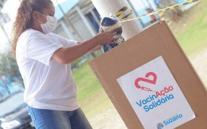 Vacinação Solidária arrecada 11 toneladas de alimentos