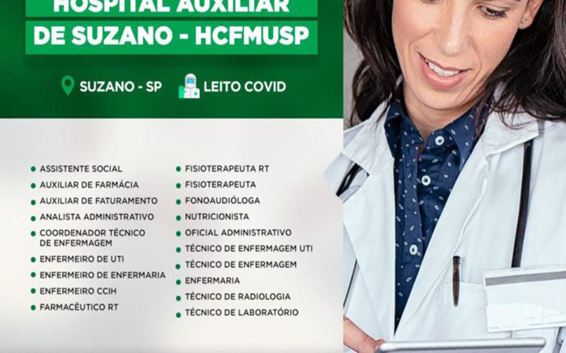 Aberto Processo seletivo simplificado do INTS para o Hospital Auxiliar de Suzano – HCFMUS